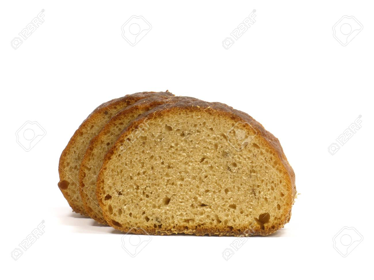 Bread slices on the white isolate background Stock Photo - 8382553