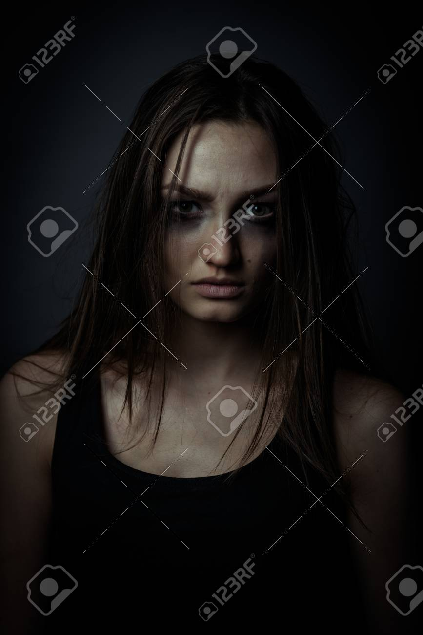 Close up photo of sorrow sad girl stock photo 54648139