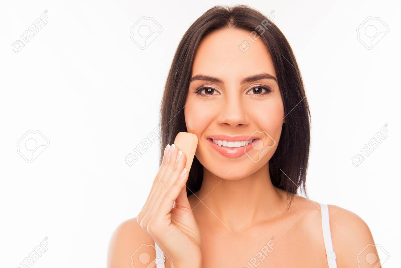 Image result for girl looking at her skin tone stock