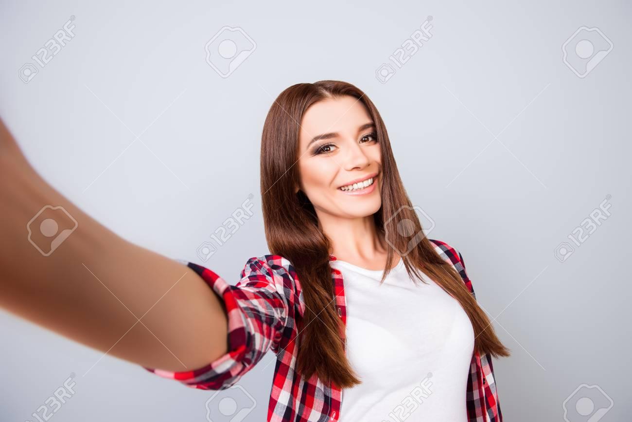 Cute brunette teen stripping