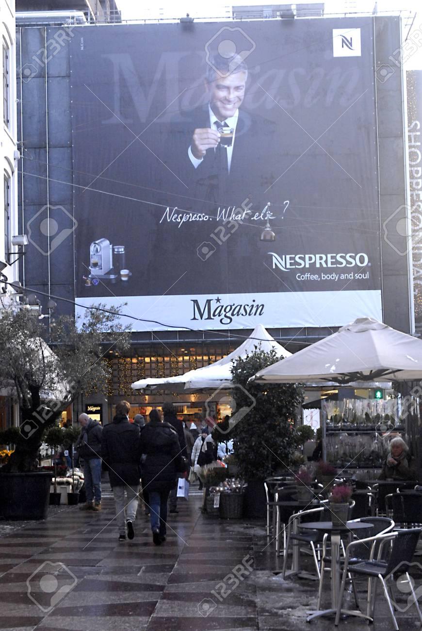 Denmark Copenhagen Bill Baord With George Cloony For Nespresso