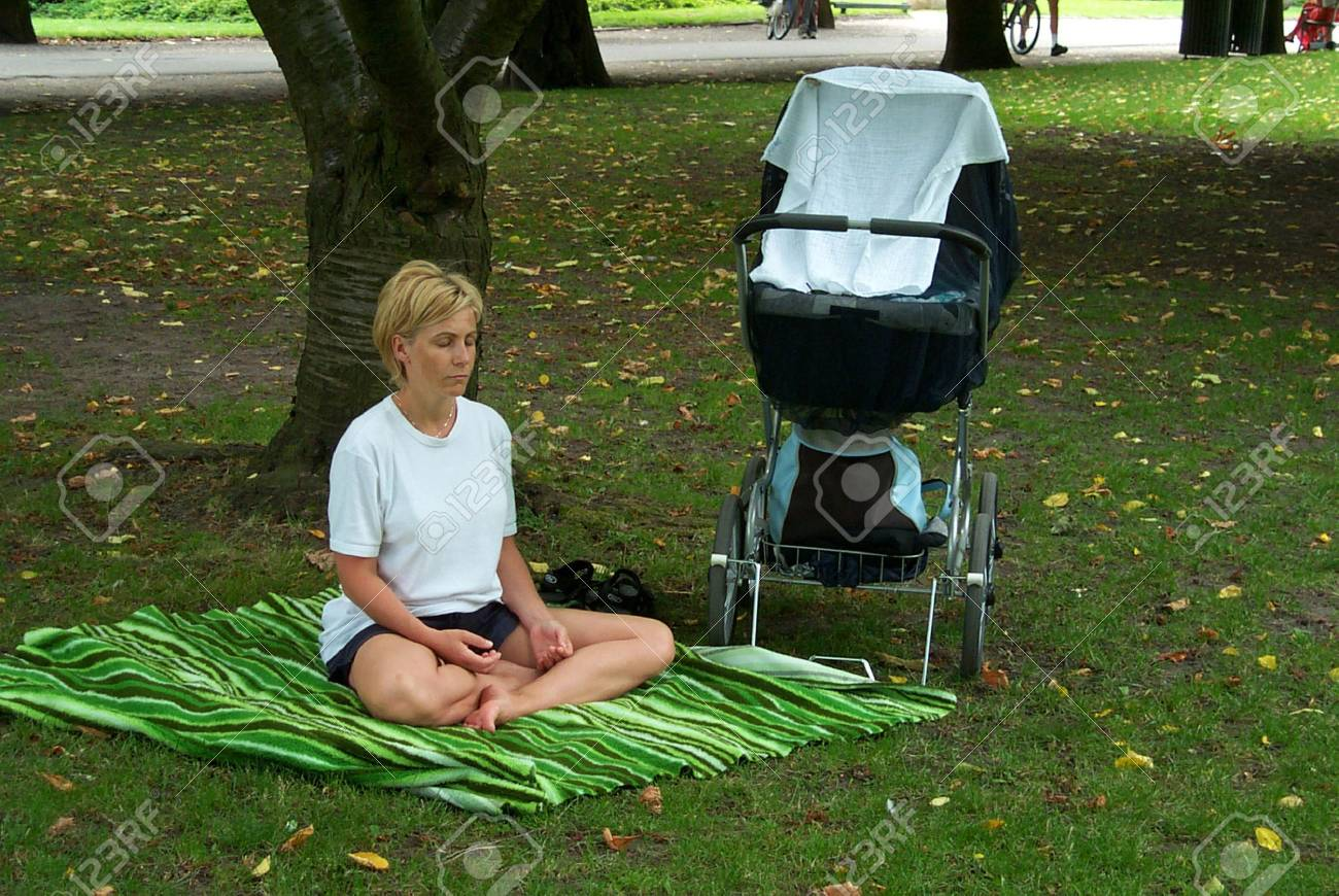 30-07-02-Kongens Have-Copenhage-Denmark,danishmother has right for full maternity benefit while on   maternity leave,but danish mother does not get fullmaternity allowance if she works in financial sector,there iks conflict in law. Stock Photo - 8500849