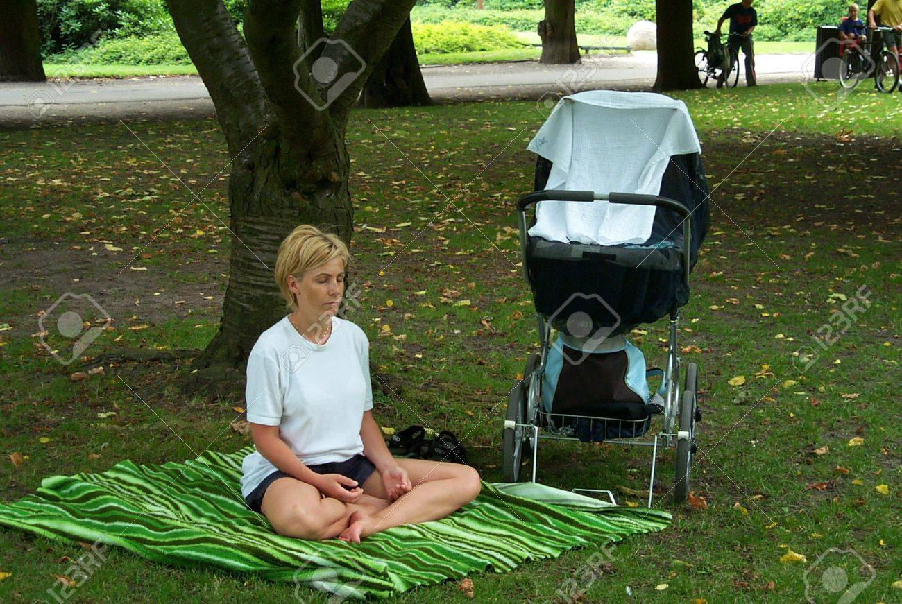30-07-02-Kongens Have-Copenhage-Denmark,danishmother has right for full maternity benefit while on   maternity leave,but danish mother does not get fullmaternity allowance if she works in financial sector,there iks conflict in law. Stock Photo - 8500854