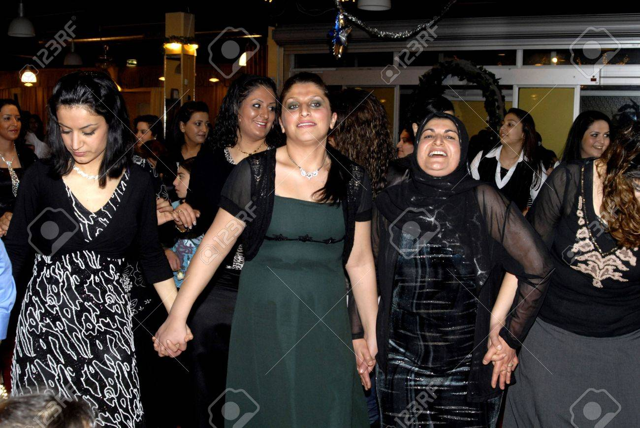 Kurdish Wedding Ceremony, Family Members,relatives And Friends ...