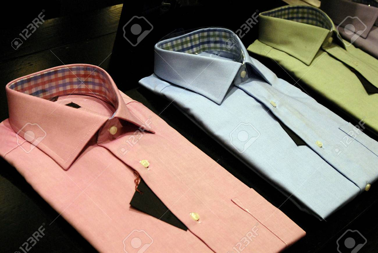DENMARK / COPENHAGEN .Various  colour  shirts on sale in Illum department store 17 Feb. 2011   Stock Photo - 8822135