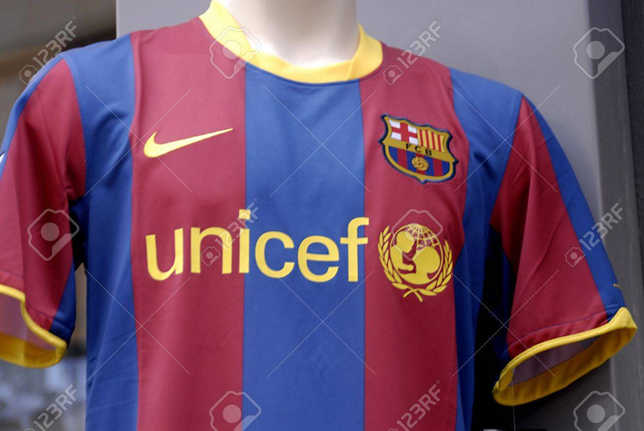 Denmark Copenhagen Sport T Shirt Fcb Footablla Club Barcelona Stock Photo Picture And Royalty Free Image Image 9048269