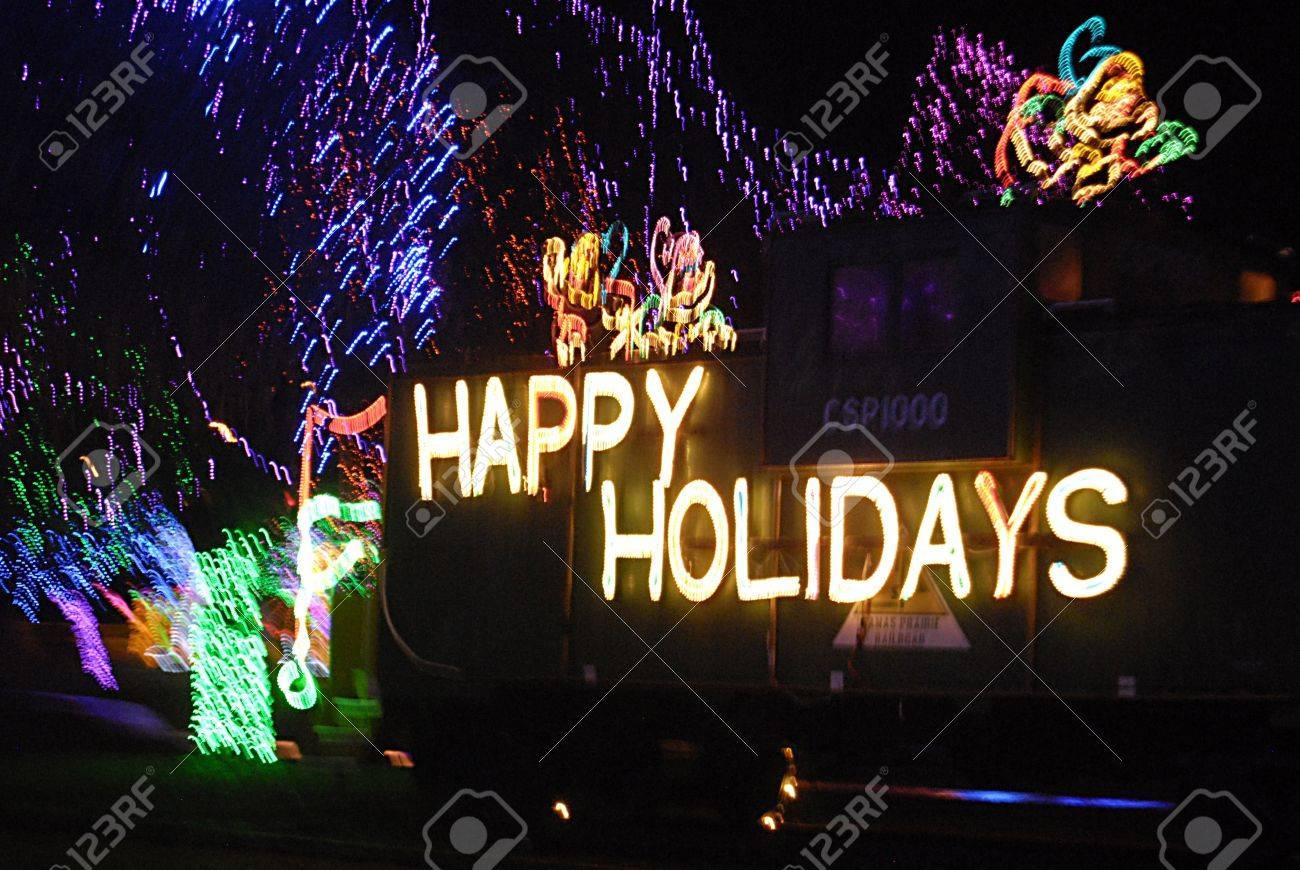 Amerikanische Weihnachtsbeleuchtung.Stock Photo
