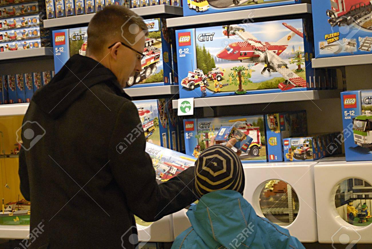 Sale On Legos Denmark Copenhagen Consumers With Children For Lego Shopping