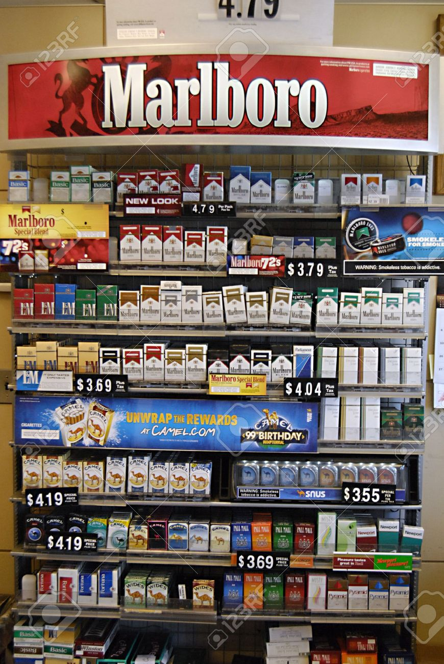 Cost of Winston cigarettes in Pennsylvania