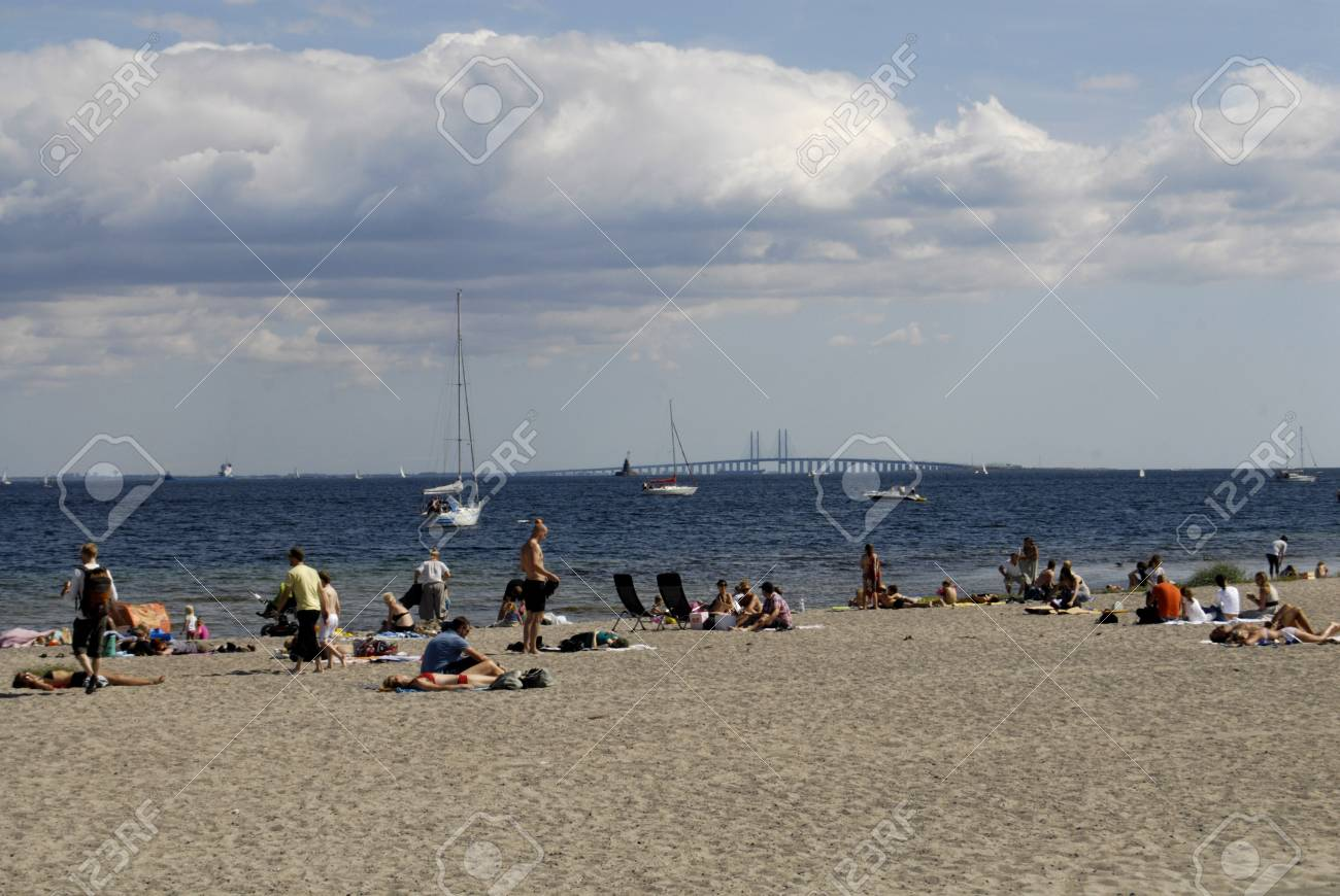 Amager Beach Park copenhagen/denmark _travel and tourism and pleasure sun bather..