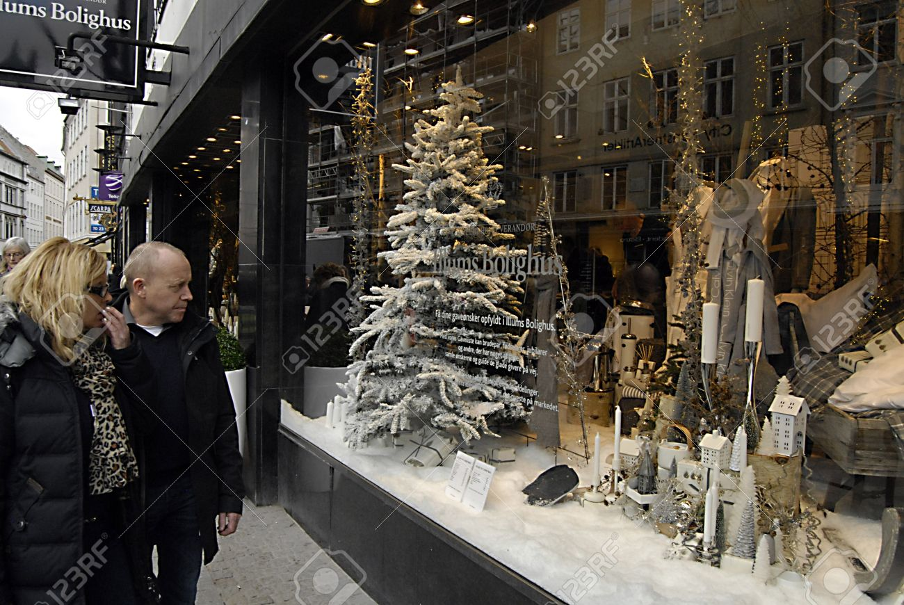 Copenhagen Denmark Early Christmas Decorations On Various