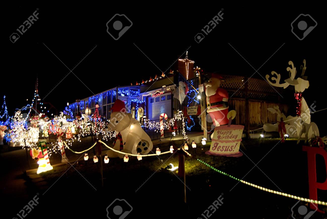 Lewiston Idaho State Residents Usa Lewiston 14 Rue A Decorer Sa Maison Avec Chritmas Allument Santas Mary Joseph Et Jesus Figurres Animaux Qu Il