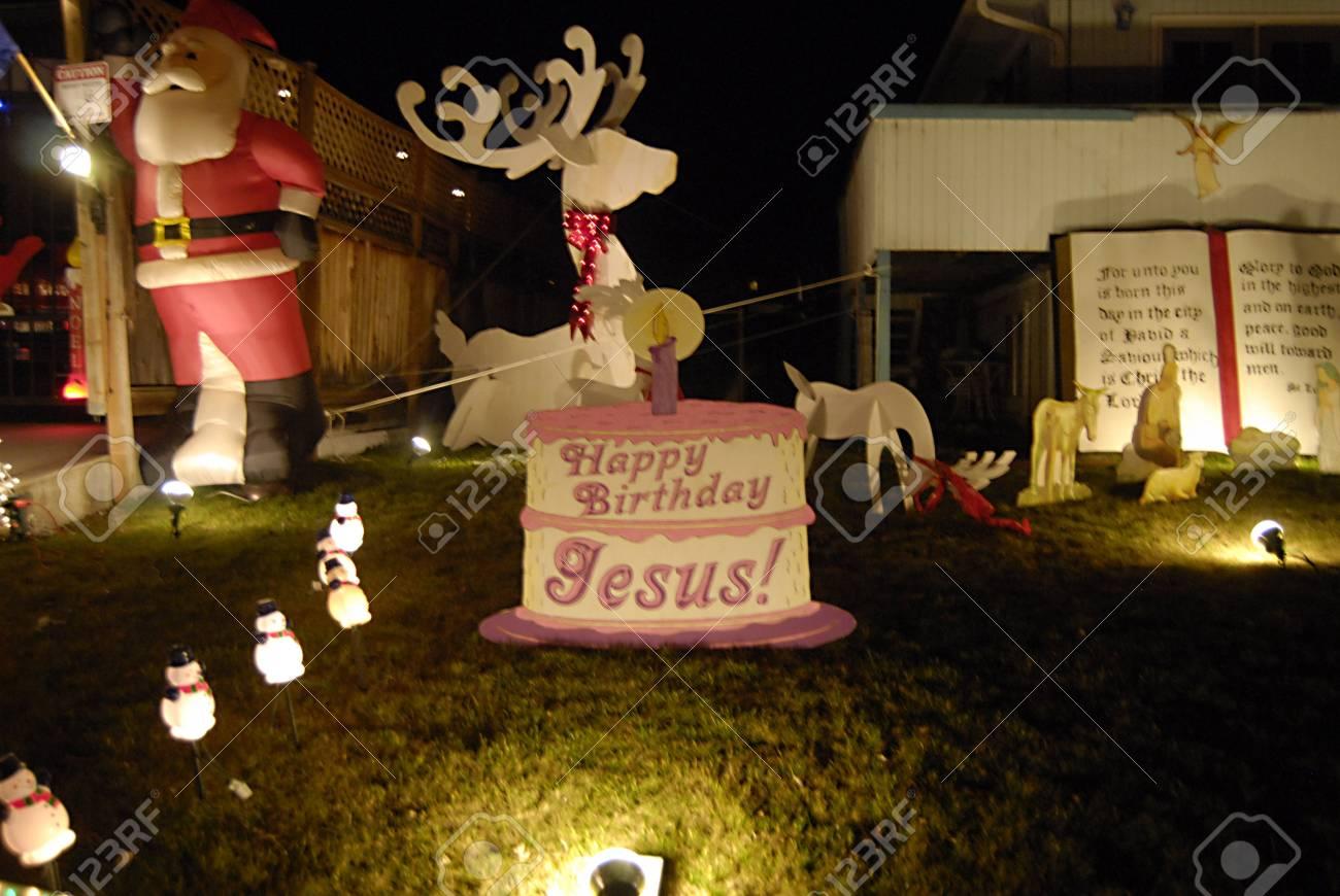 Lewiston Idaho State Residents Usa Lewiston 14 Rue A Decorer Sa Maison Avec Chritmas Lumiere Santas Mary Joseph Et Jesus Figurres Animaux Il A