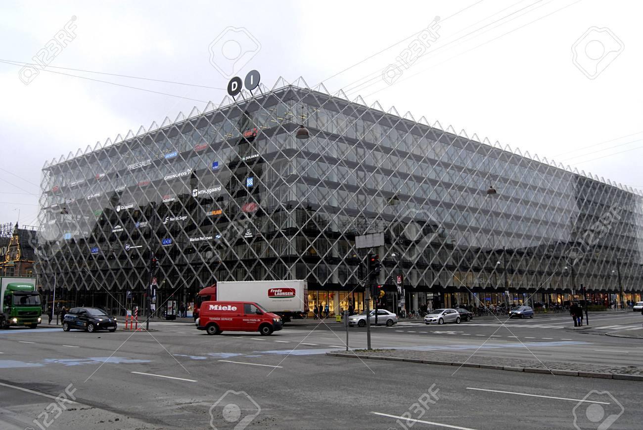 Copenhagen /Denmark-  19 November  2013  _Danske indsutry ID-Hus or dnish industry house at townhall sq.          Stock Photo - 23817743