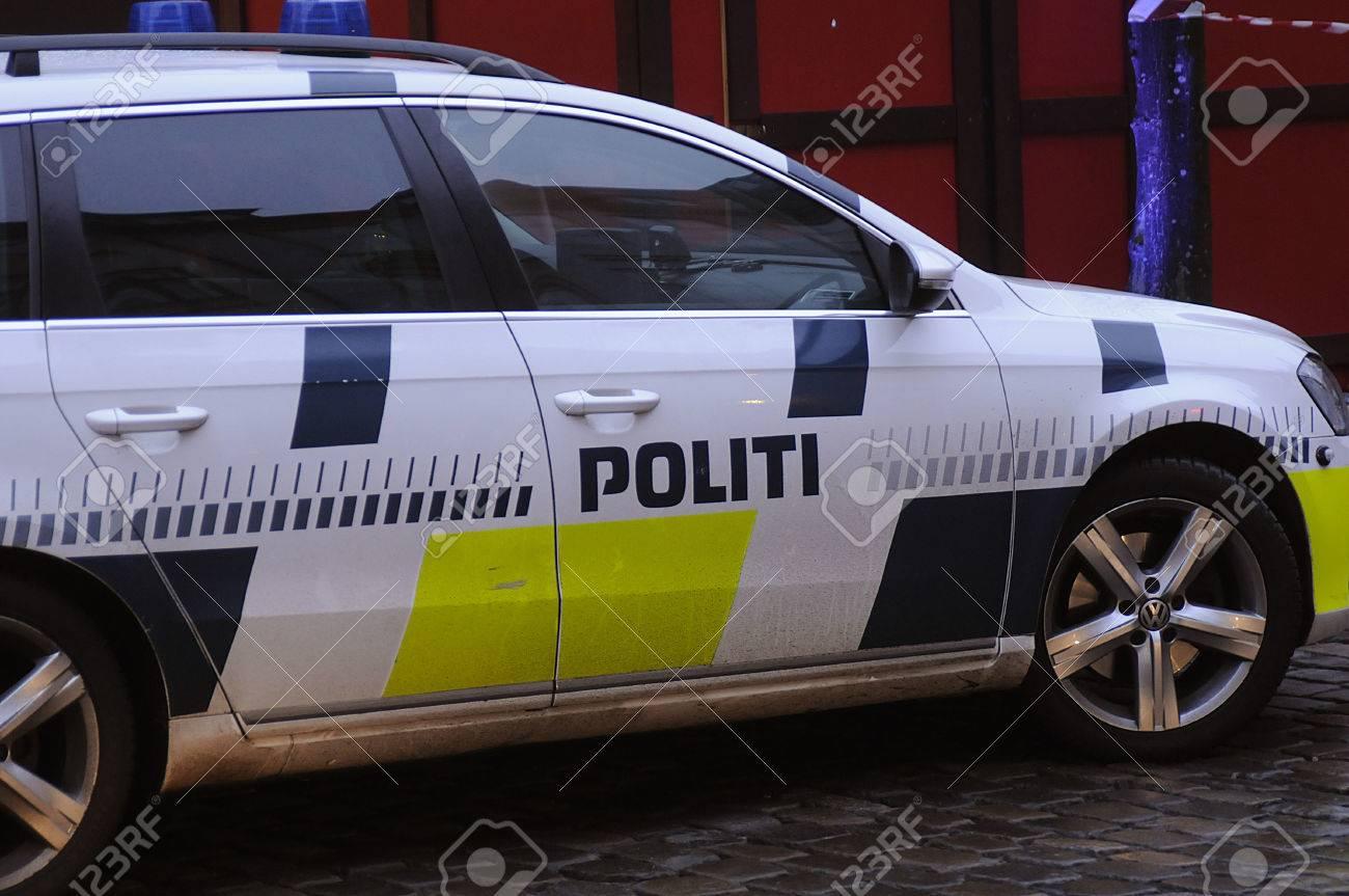 Kopenhagen Denemarken 22 December 2016 Danish Politieauto En