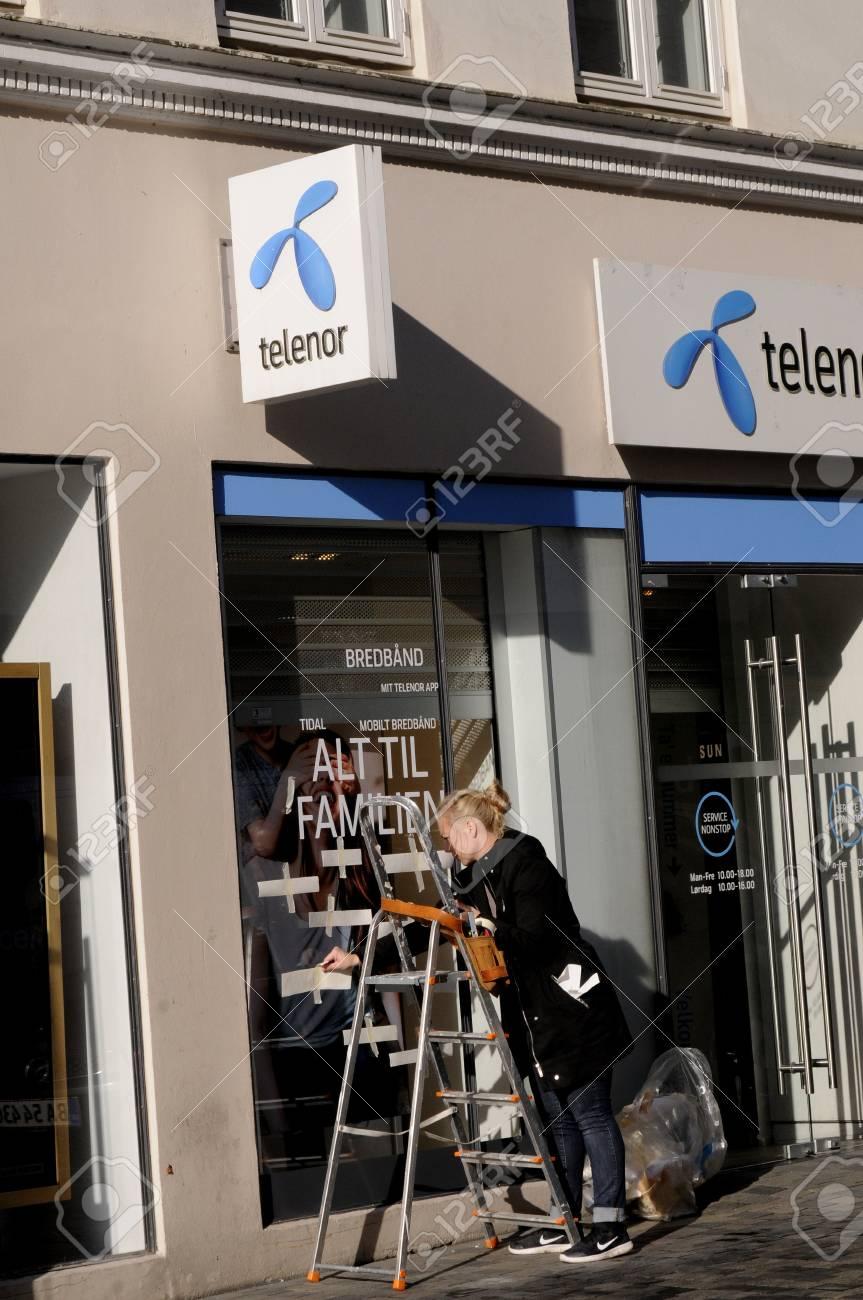 Copenhagen /Denmark - 22 September  2017  Telenor internet