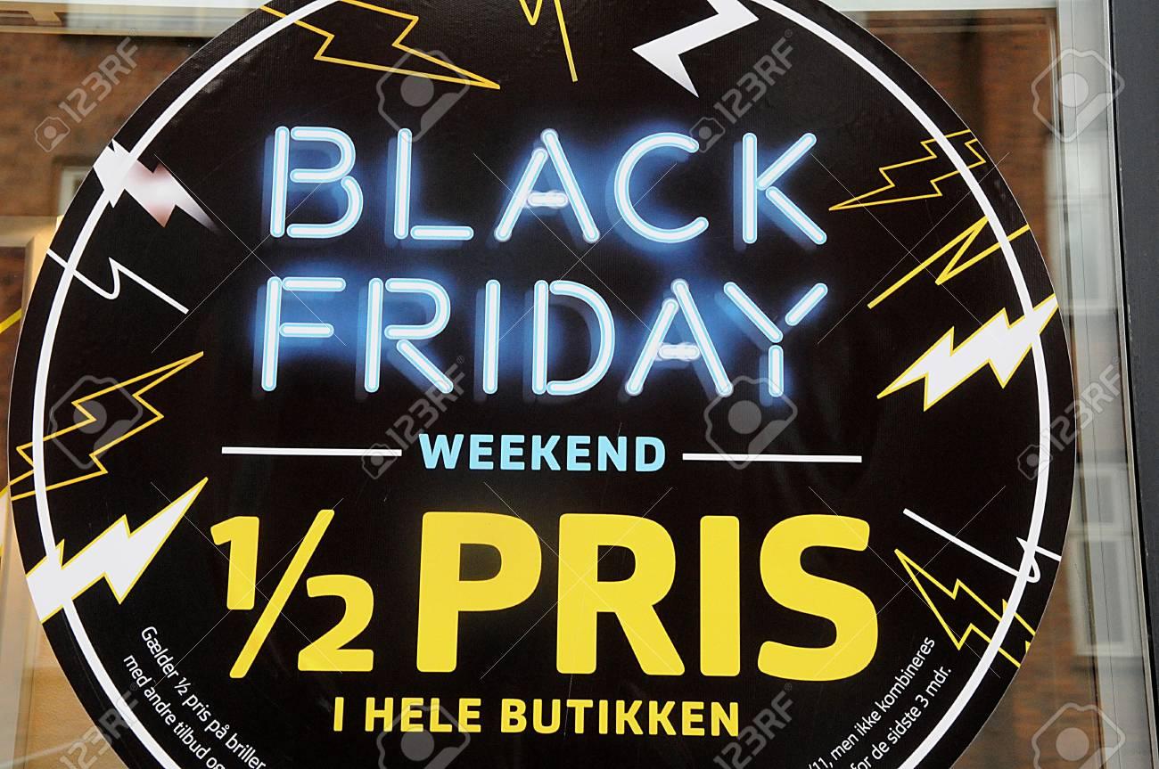 Copenhagen/Denmark 21 November 2018 _Black friday dane business