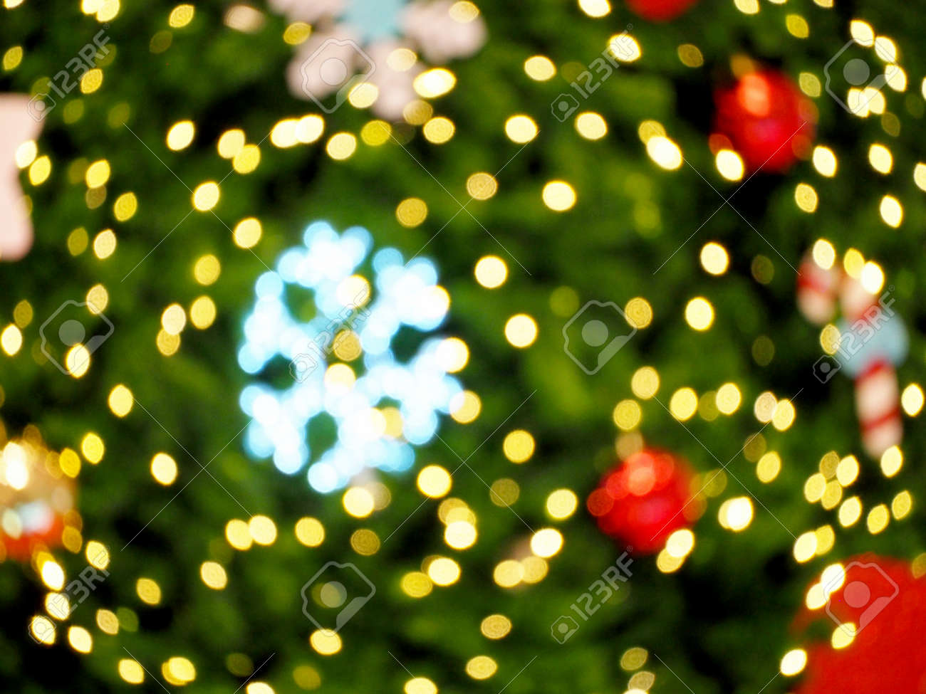 Marry Christmas and Happy New Year blur background - 145461745