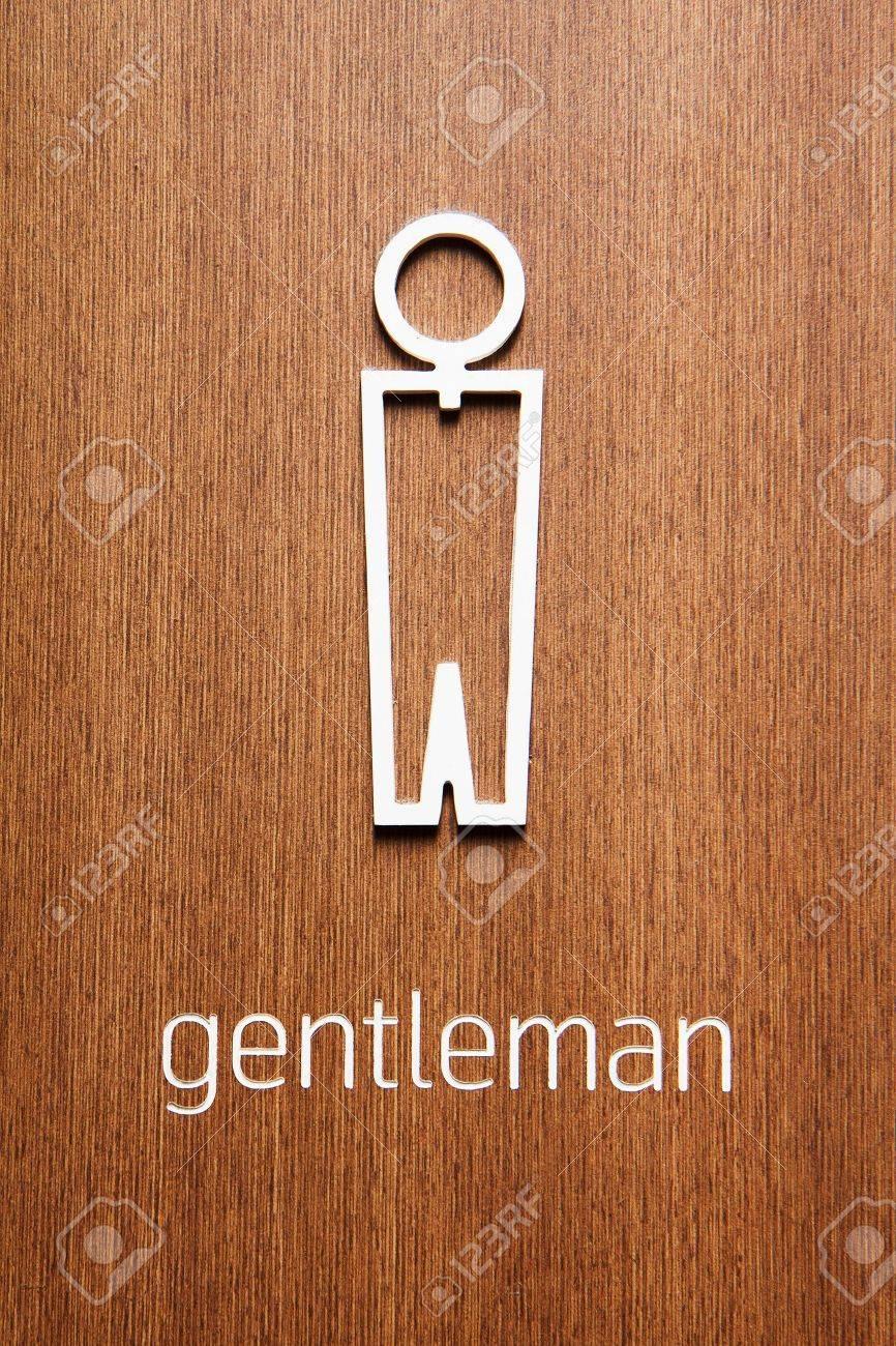 Toilet signs men Stock Photo - 9947459