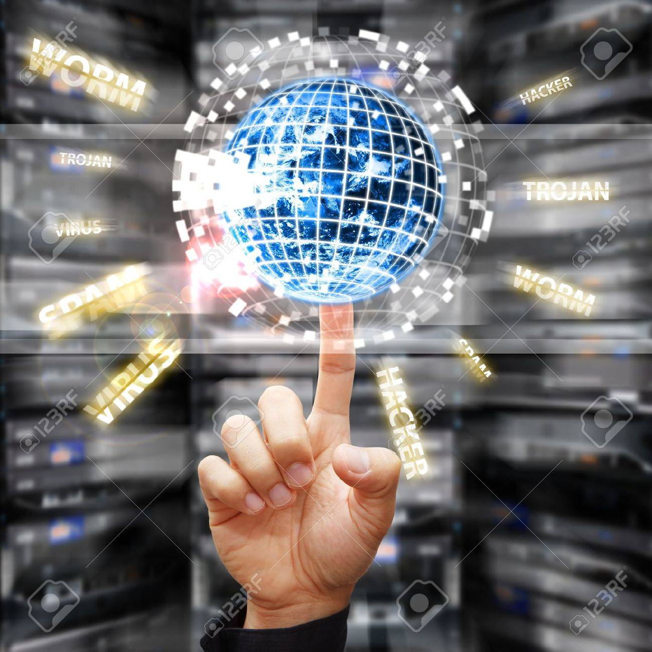 Digital world was protected in data center room Stock Photo - 15668328
