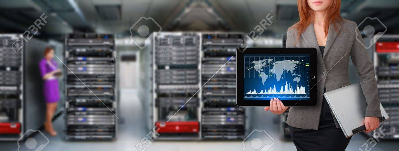 Programmer and graph for monitor system in data center room Stock Photo - 15668432