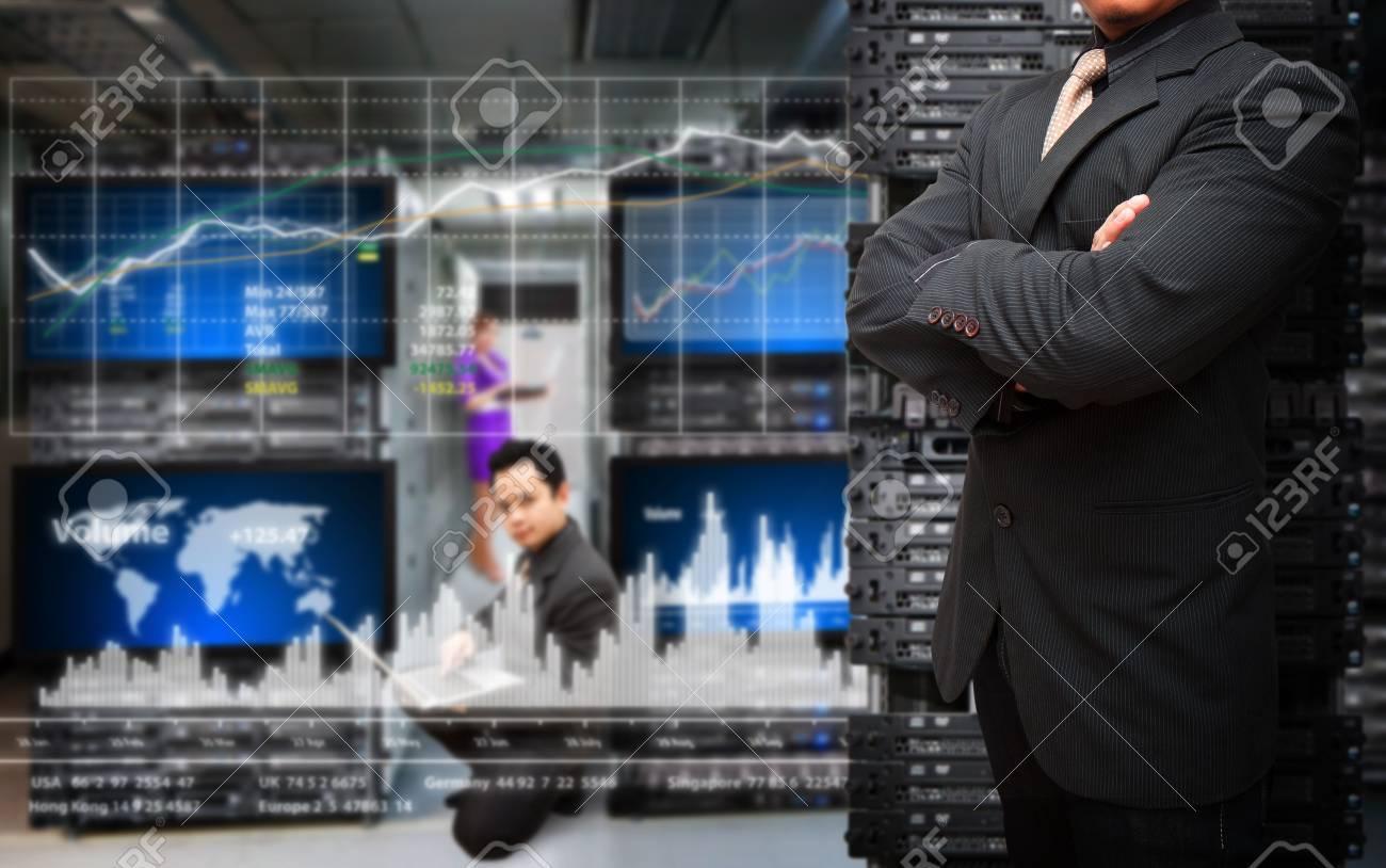 Programmer monitoring system in data center room Stock Photo - 17539964