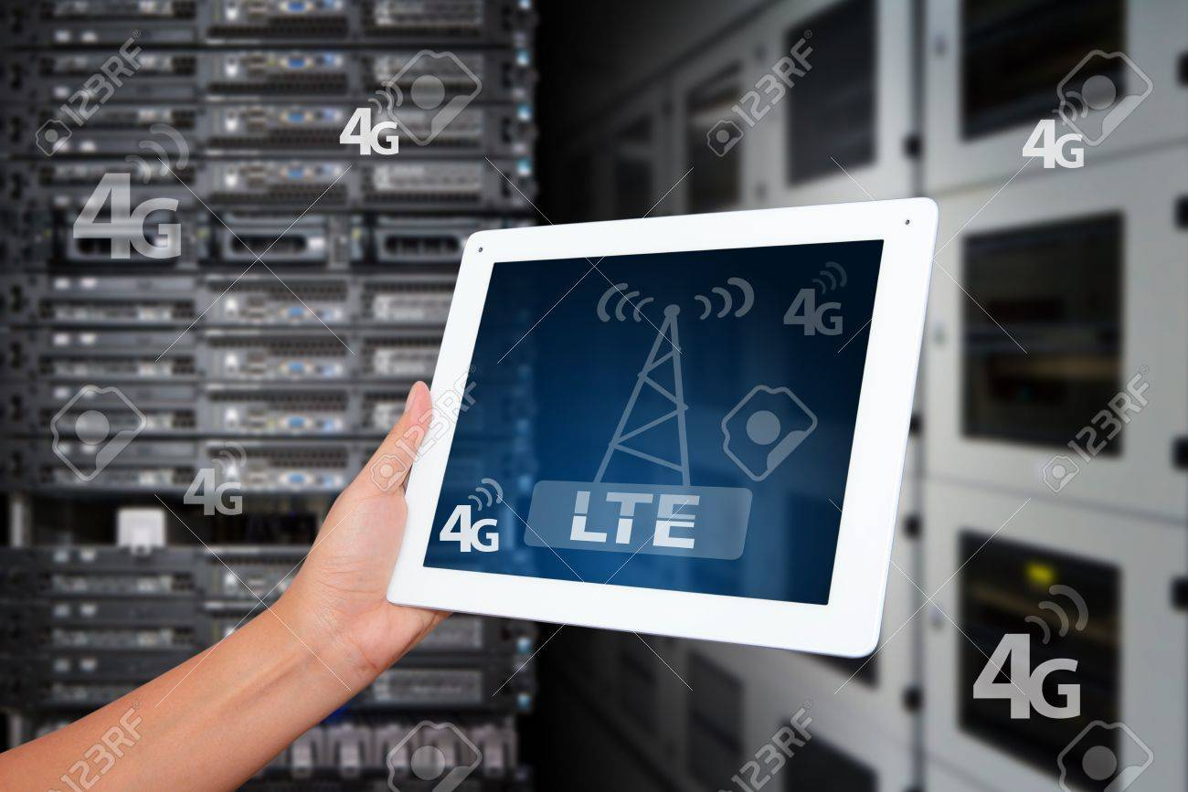 4G LTE wireless GPRS on digital tablet Stock Photo - 16861143