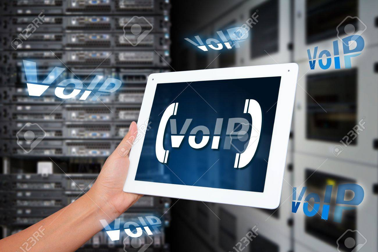 VoIP system in data center room Stock Photo - 16861150