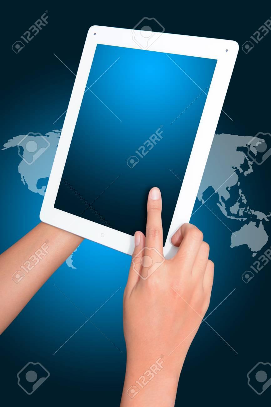 Digital tablet from programmer Stock Photo - 17519390