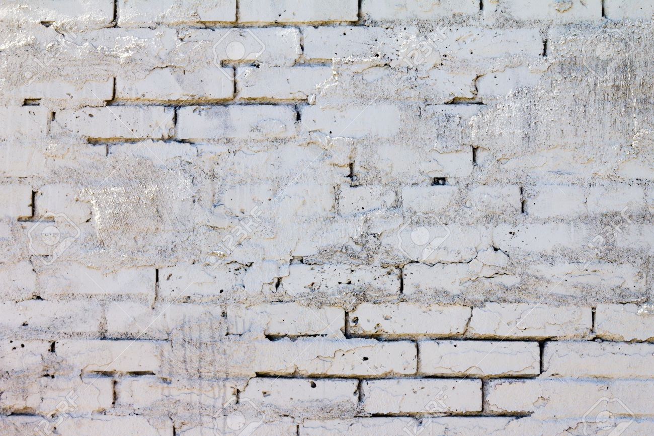 Design Painted Brick Texture brick wall background pattern with old white paint texture stock photo 13564852