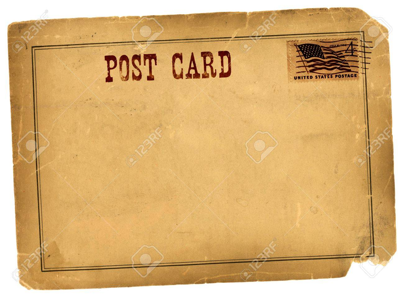 Vintage postcard grungy background template made from real antique vintage postcard grungy background template made from real antique 1800s paper stock photo 21613693 pronofoot35fo Image collections