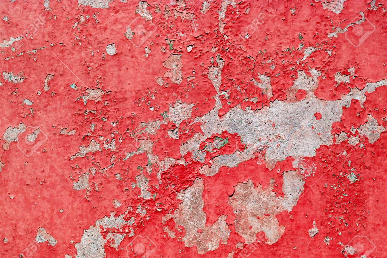 old cracked red paint background texture wall stock photo, picture