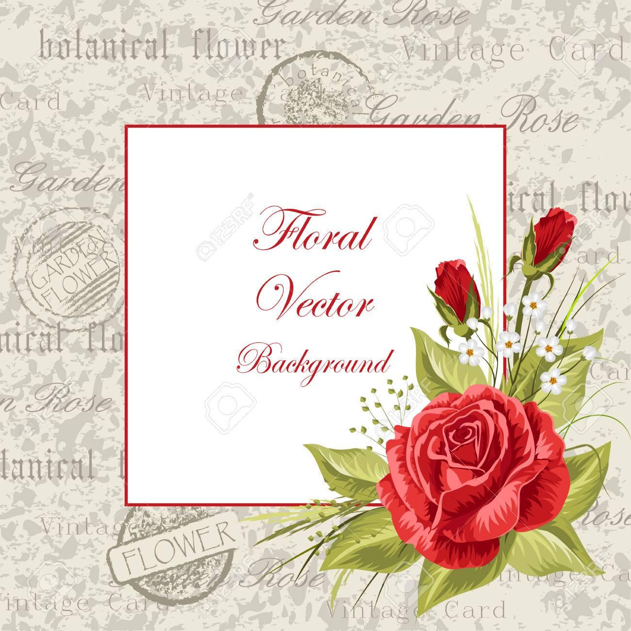 vector illustration eines schönen vintage rahmen mit blumen für