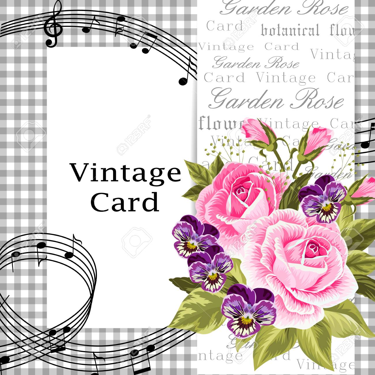 Vector illustration of a beautiful flowers on vintage background vector vector illustration of a beautiful flowers on vintage background for invitations and birthday cards izmirmasajfo