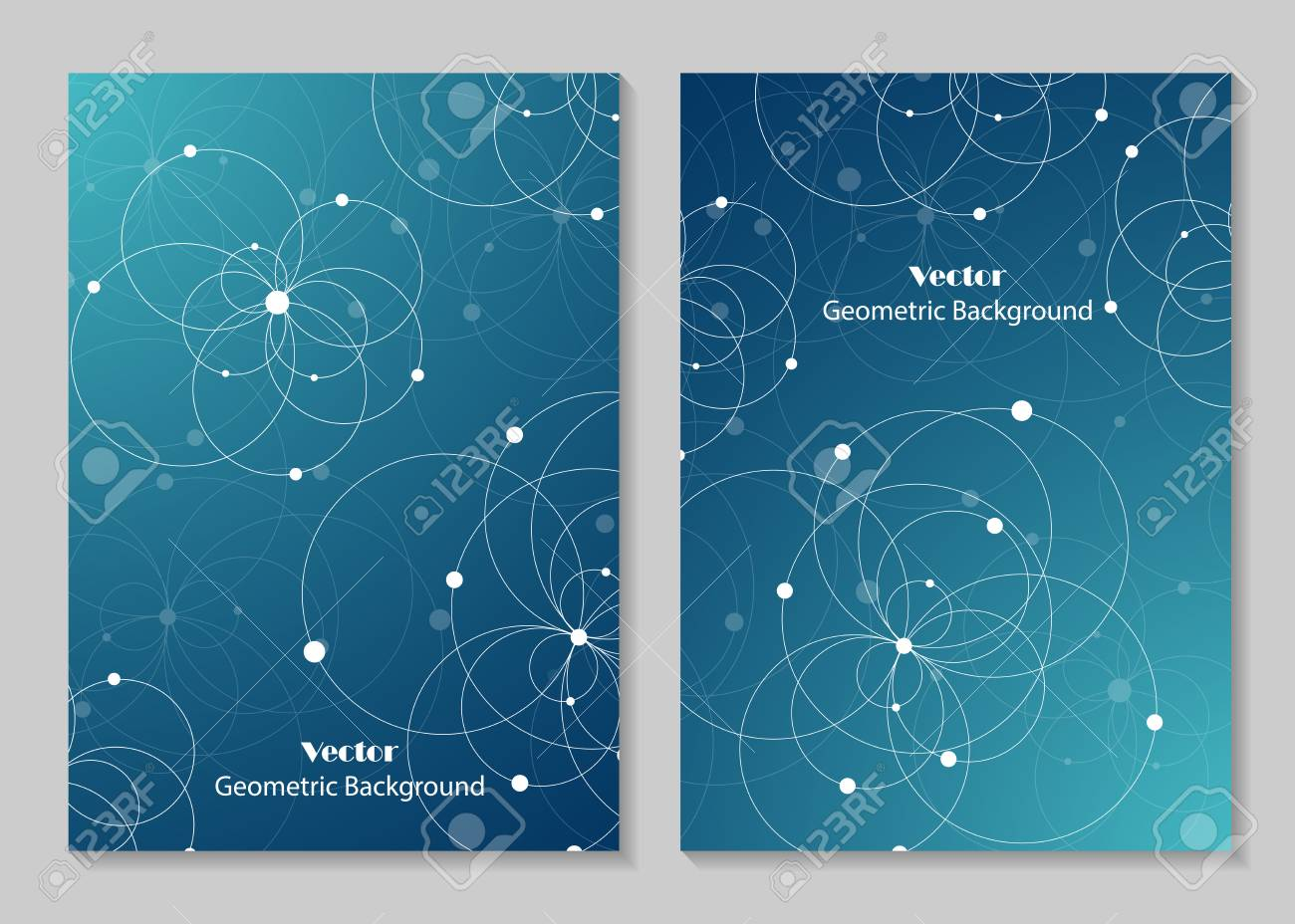 Modern Vector Templates For Brochure Cover In A4 Size Abstract