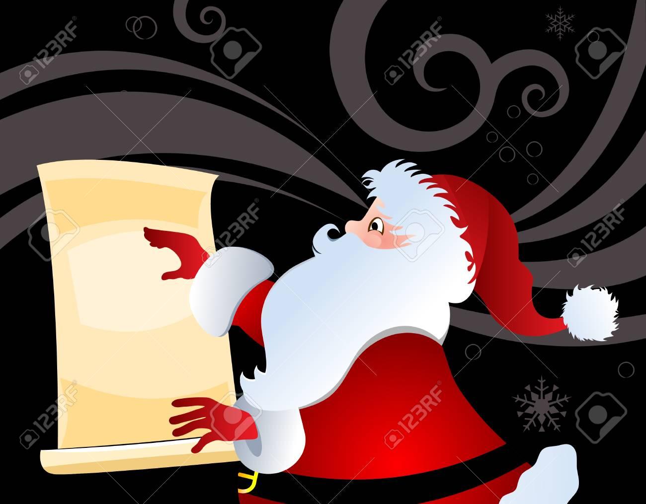 Santa with list Stock Vector - 16185175