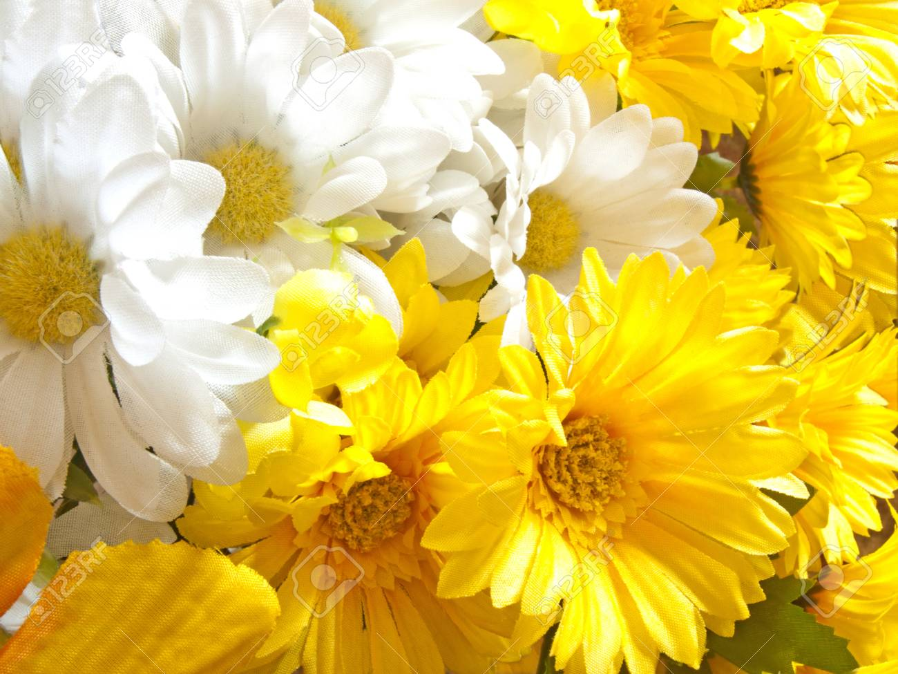 White and yellow artificial flowers stock photo picture and royalty stock photo white and yellow artificial flowers mightylinksfo