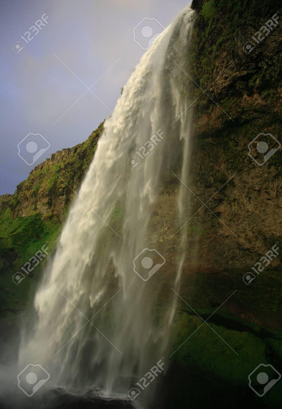 Amazing waterfall at Seljalandfoss in Iceland - 2046823