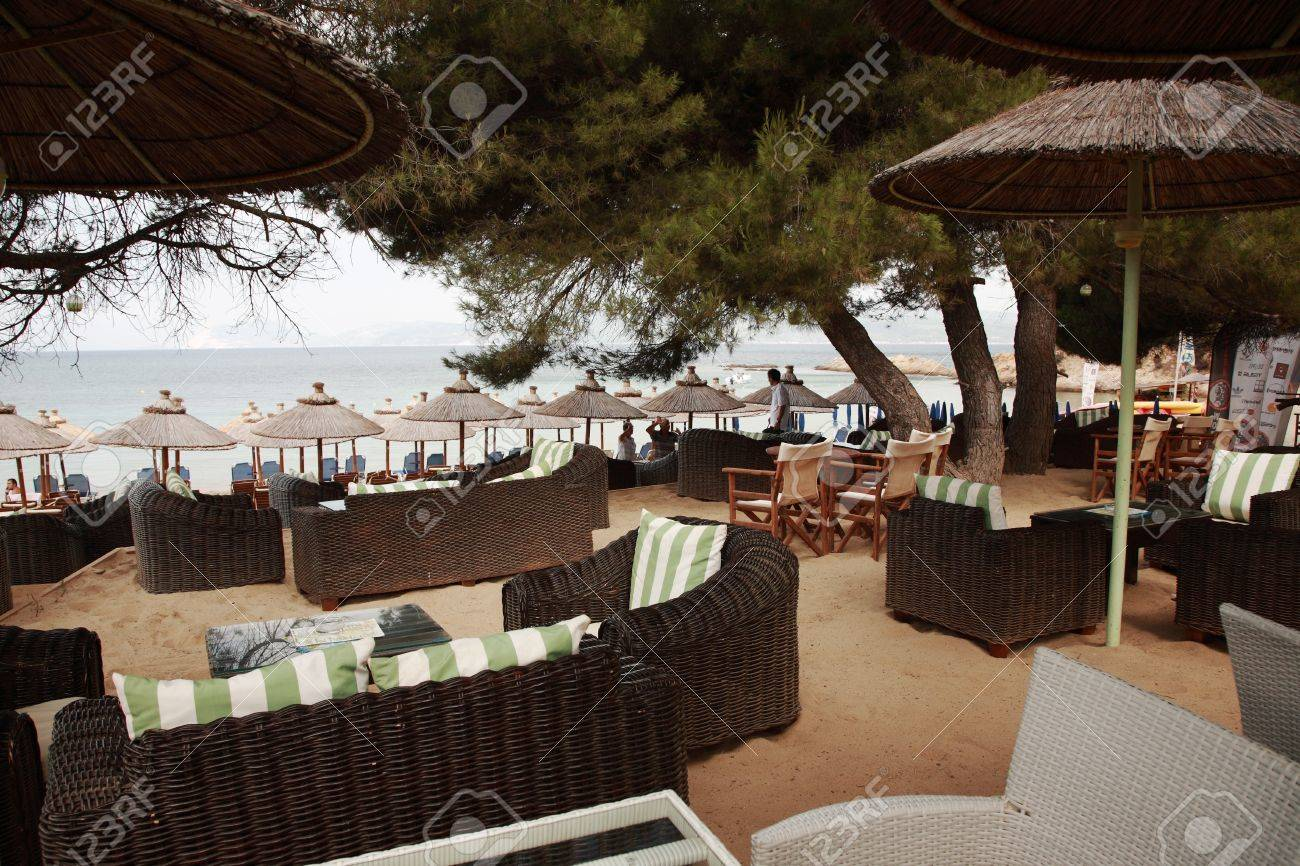 Swanky Beach Bar On Banana Beach Skiathos Greece Stock Photo Picture And Royalty Free Image Image 16372743