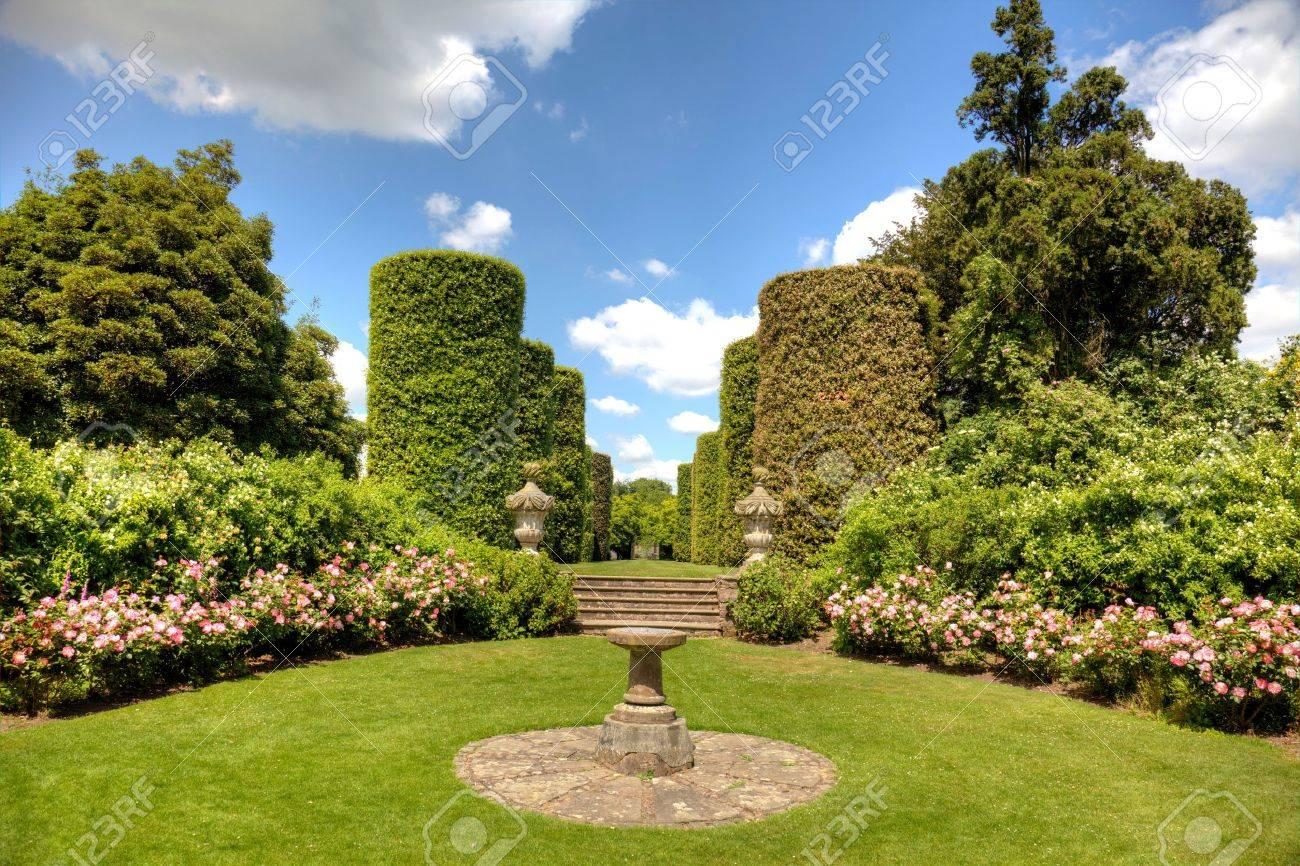 English stately home garden - 16436623