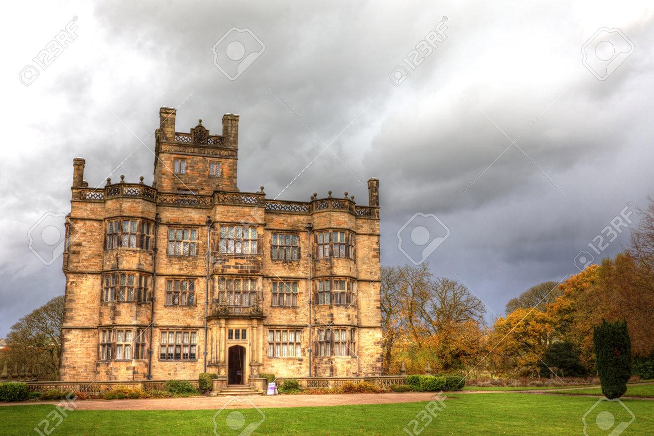 Gawthorpe Hall an Elizabethan country house in Lancashire, England - 17326688