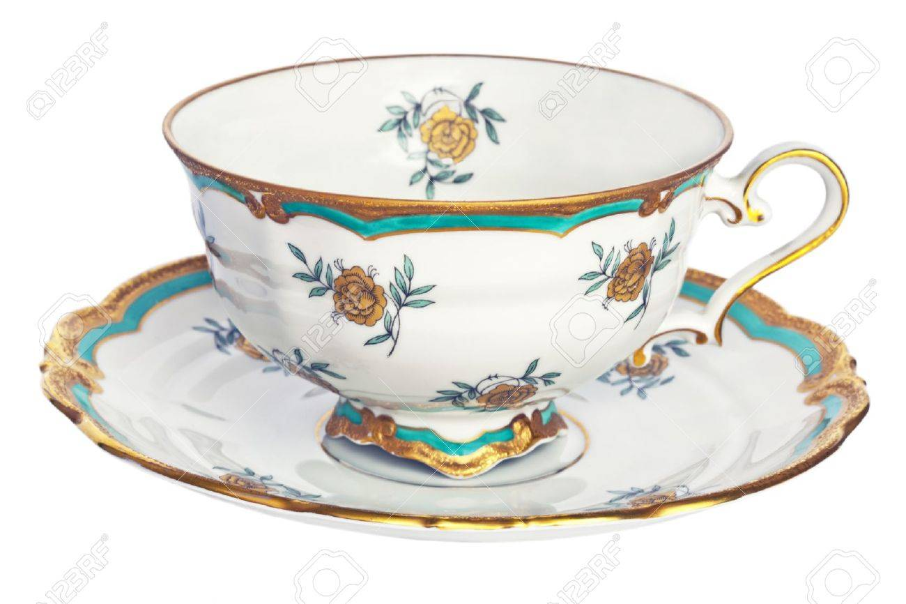 Antique tea cup and saucer. - 17431999