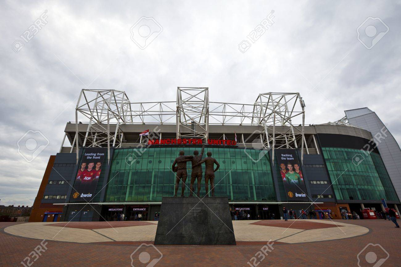 MANCHESTER, UK - April 21: Old Trafford stadium is home to Manchester United one of the wealthiest and most widely supported football teams in the world. Manchester April 21, 2013. - 19212878