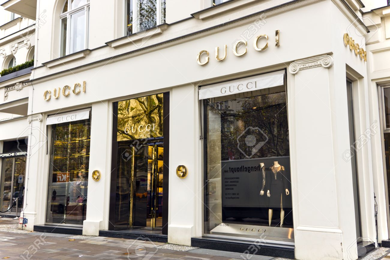 The fashion company Gucci is the biggest-selling Italian brand in the world Gucci s elegant store in the central of Berlin November 8, 2013 in Berlin, Germany - 23674018