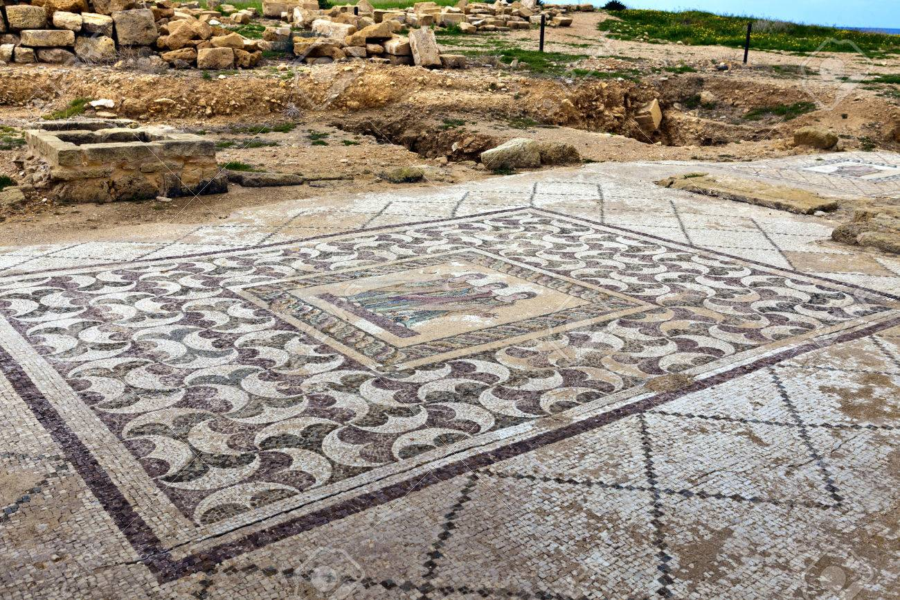 Ancient mosaics at the Archaeological Helenistic and Roman site at Kato Paphos in Cyprus - 30143116