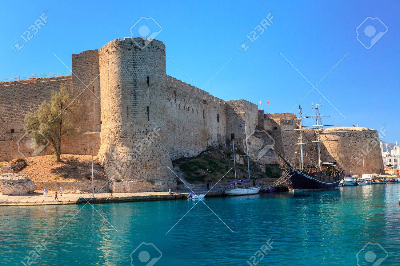 Historic harbour and the old town in Kyrenia (Girne) on the Island of Cyprus. - 56068210