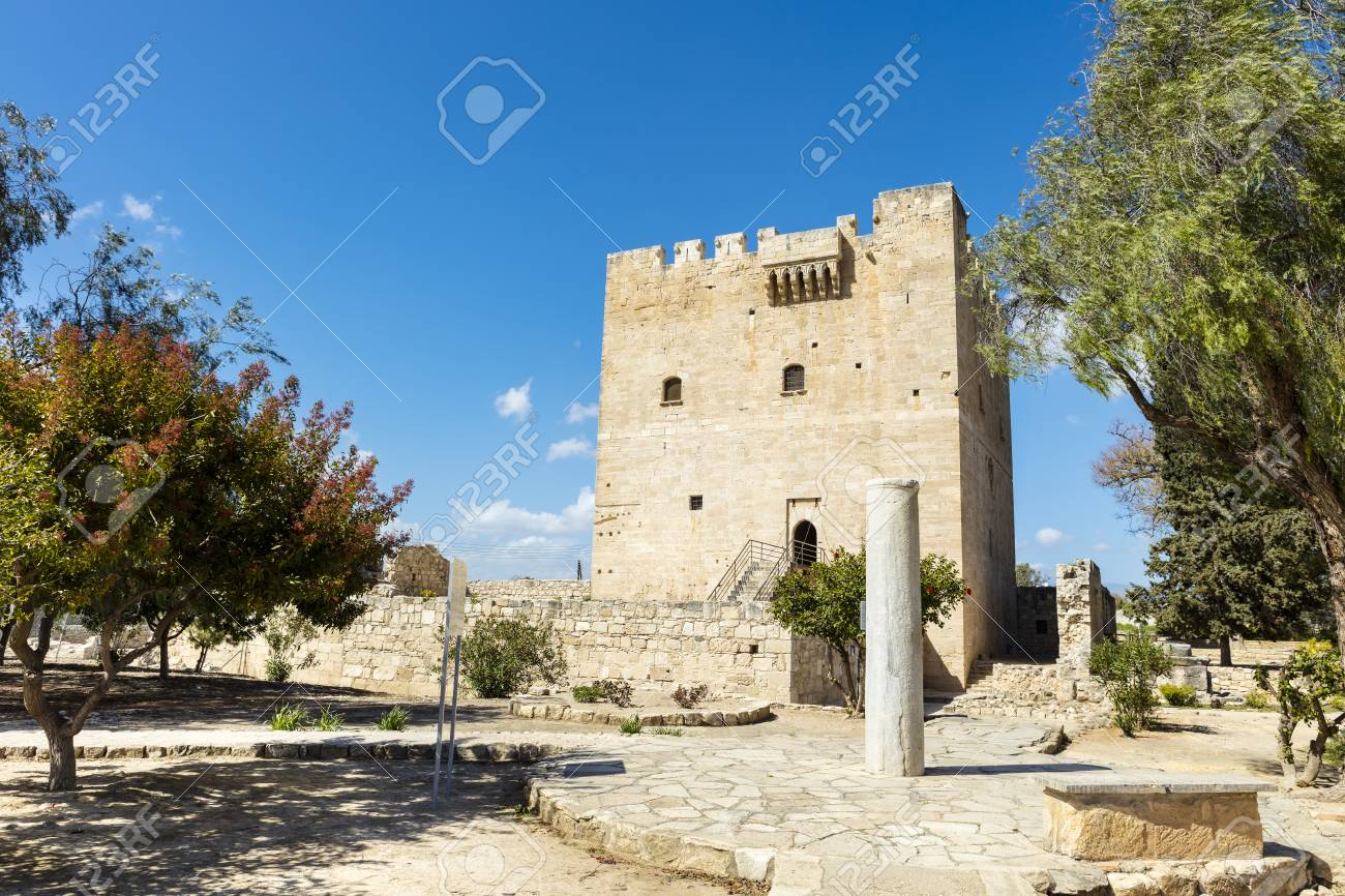 The medieval castle of Kolossi near Limassol in Cyprus. - 73248422