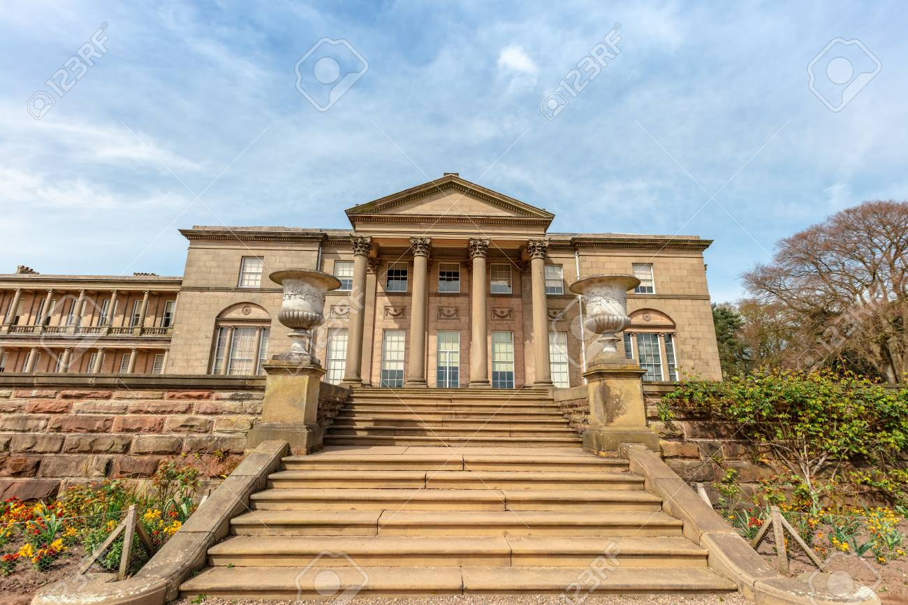 Historic English Stately Home and park in Cheshire, UK. - 119462354