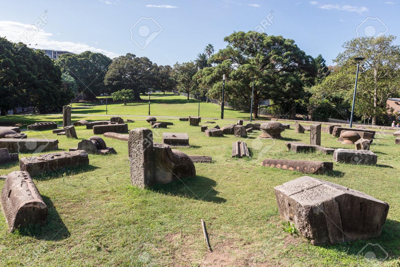 SYDNEY, AUSTRALIA - April 6, 2019: Memory is Creation sculptural group by Kimio Tsuchiya in Royal Botanic Gardens Sydney city centre, Australia. - 167251824