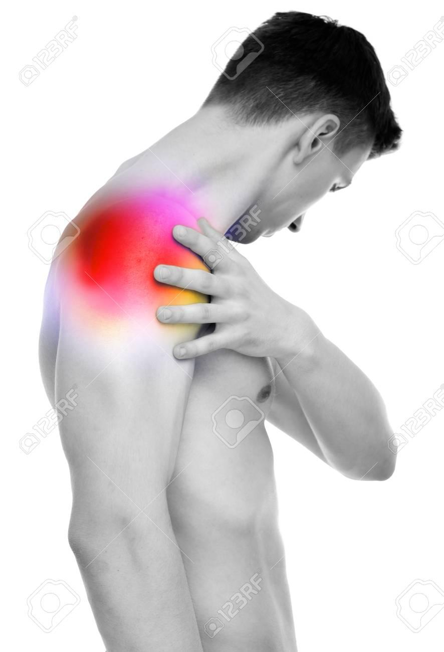 Dolor En El Hombro - Anatomía Masculina Que Sostiene El Hombro ...